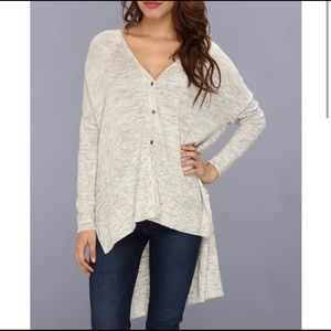 FREE PEOPLE TGIF High-Low Marled Cardigan oversize